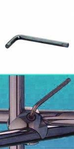 Ключ шестигранный, 3 мм